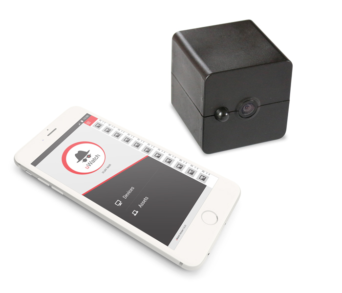 Image of uWatch box and phone